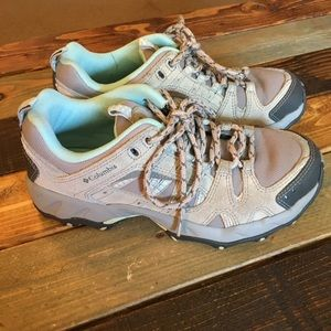 Columbia Women's Gray/Teal Hiking Shoes
